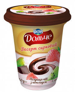 Dessert with chocolate 3,4% Strawberry-Kiwi Dolce (cup 0,350 kg)