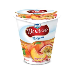 Yoghurt 3,2% Peach-Passion Fruit Dolce (cup 0,280 kg)