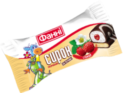 Glazed curd on a biscuit 15% Wild Strawberry Fanni (0,050 kg)
