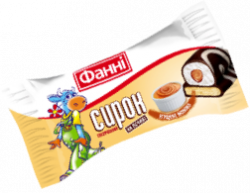 Glazed curd on a biscuit 15% Condensed Milk Fanni (0,050 kg)