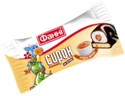 Glazed curd on a biscuit 15% Condensed Milk Fanni (0,050 kg)