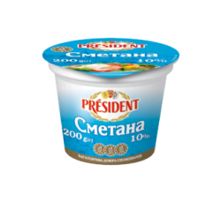 Sour Cream President 10% (Cup 0,200 kg)