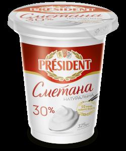 Sour Cream President 30% (Cup 0,325 kg)