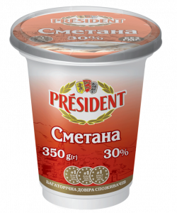 Sour Cream President 30% (Cup 0,350 kg)
