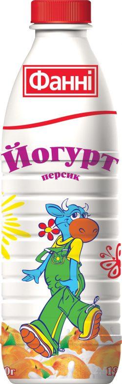 Drinkable yoghurt 1% Peach Fanni (bottle 0,870 kg)