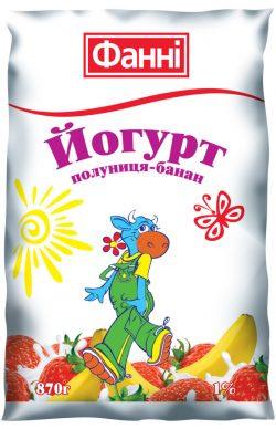 Drinkable yoghurt 1% Strawberry-Banana Fanni (0,870 kg)