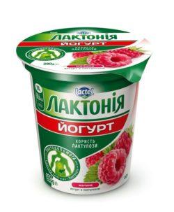 Густий йогурт з наповнювачем  Малина з лактулозою  «Лактонія»