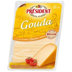 Hard cheese Gauda slice 48% President