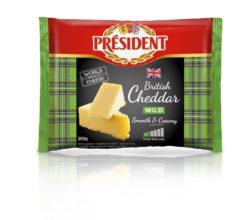 Сир твердий Чеддер Молодий 48% Президент