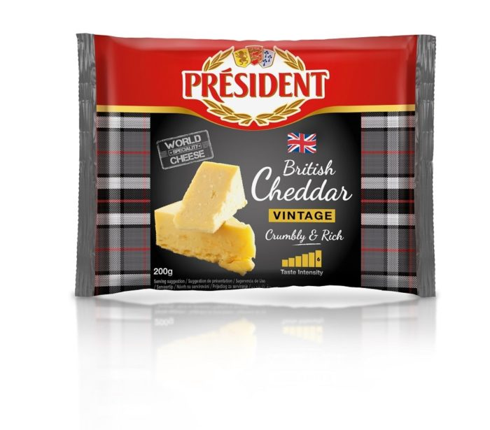 Hard cheese Cheddar Vintage 48% President