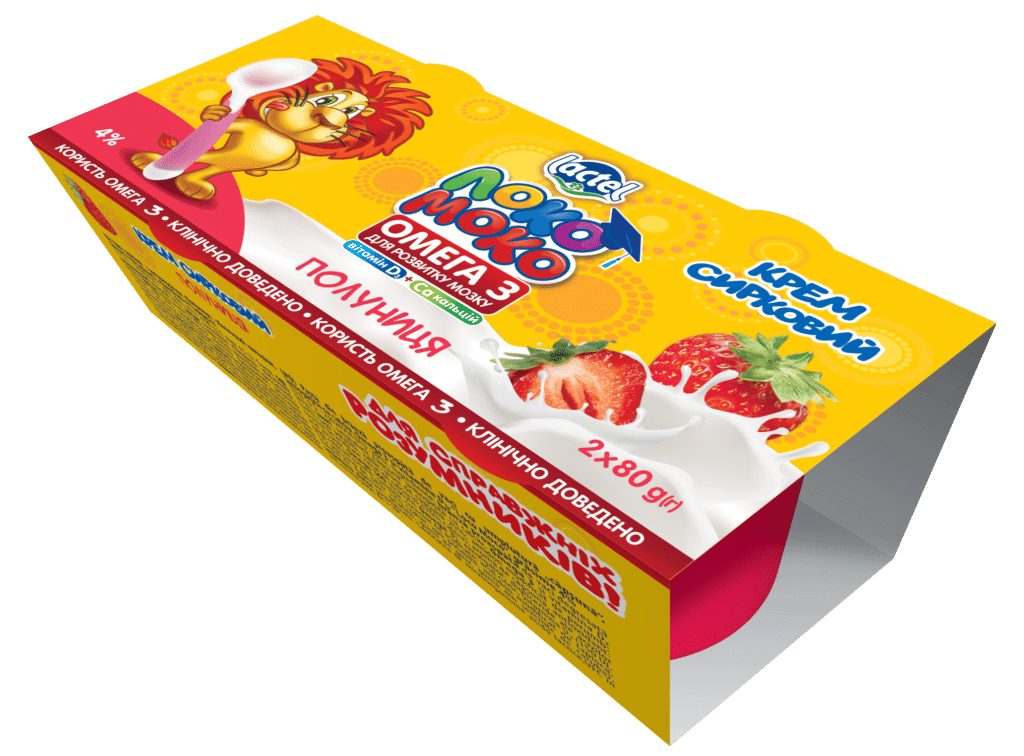 Syrok aerated 4% Stawberry LokoMoko (cup  0,160 kg (2*80g)