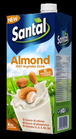 Напій мигдальний ультрапастеризований 2,2% Сантал (Брік 1 л)