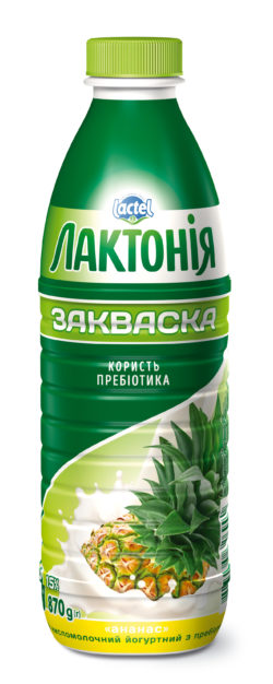 "Dairy yogurt  drink ""Zakwaska"" Ananas 1,5%,  ""Lactonia"" (Bottle 0,870)"