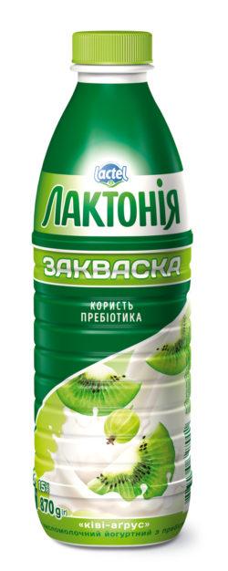"Dairy yogurt  drink ""Zakwaska"" Kiwi-Gooseberry1,5%,  ""Lactonia"" (Bottle 0,870)"