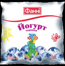 Йогурт питний 1% Чорниця Фанні