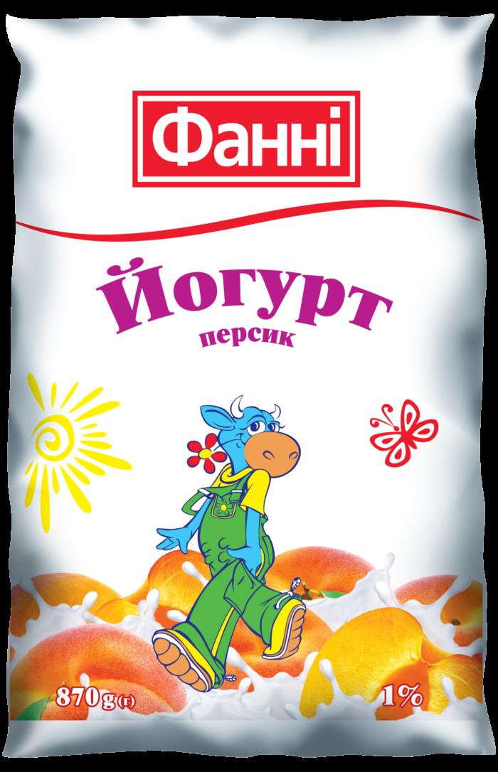 Йогурт питний 1% Персик Фанні