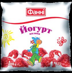 Йогурт питний 1% Малина Фанні