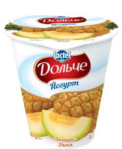 Yogurt 3,2% Pineapple-melon Dolce
