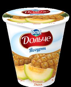 Йогурт 3,2% ананас-диня Дольче