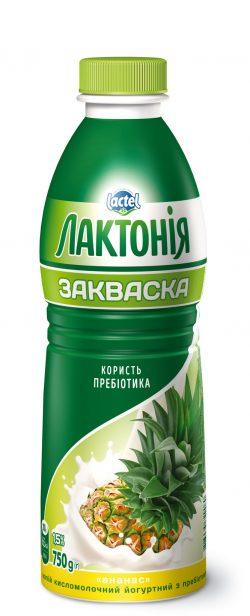 "Dairy yogurt  drink ""Zakwaska"" Ananas 1,5%,  ""Lactonia"" (Bottle 0,750)"