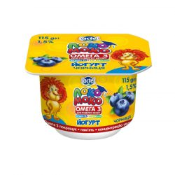 Yoghurt 1,5% Blueberry, with Calcium, Omega3 and Vitamin D3 Loko Moko (cup 0,115 kg)
