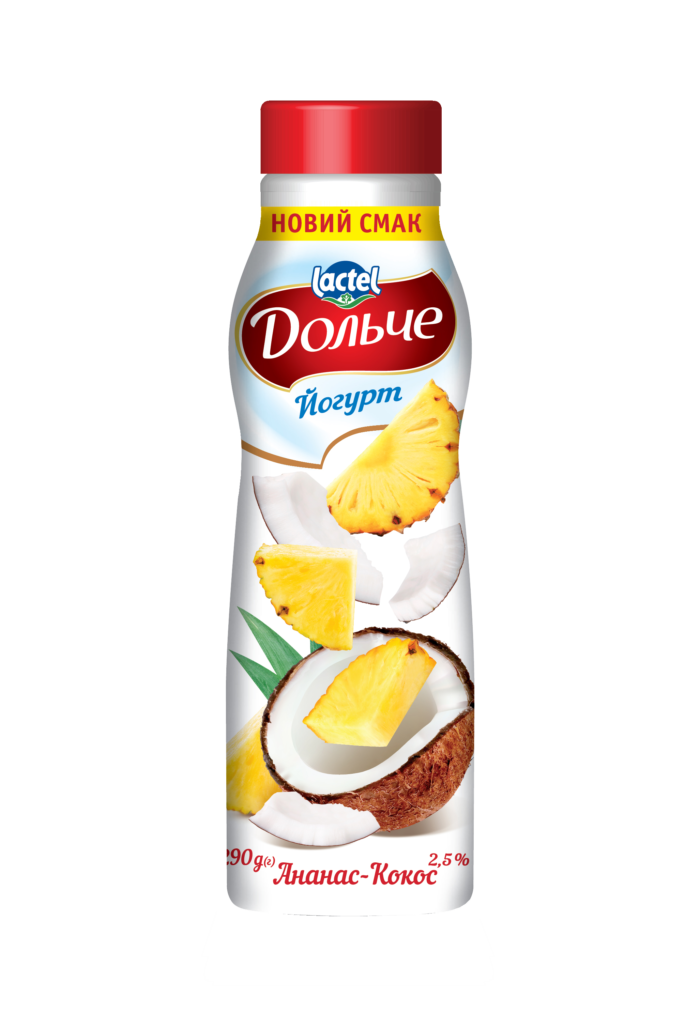 Drinkable yogurt 2,5% Pineapple-coconut Dolce
