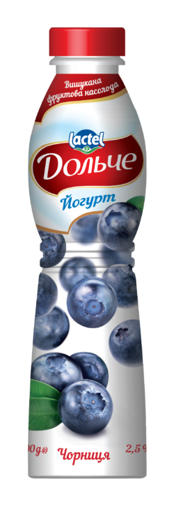 Drinkable yogurt 2,5% Blueberry Dolce