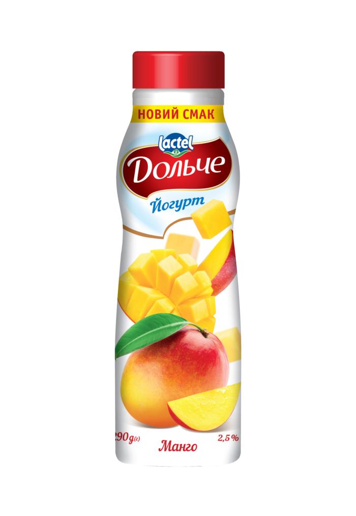 Йогурт питний 2,5% з манго Дольче