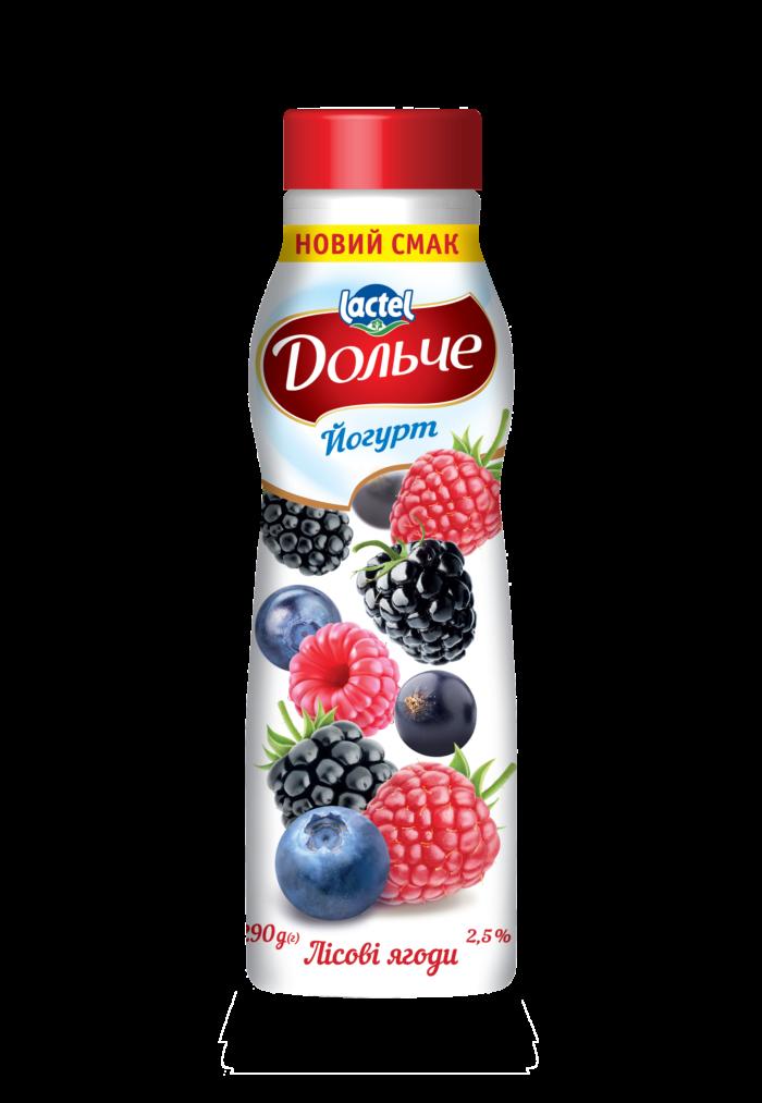 Йогурт питний 2,5% з лісовими ягодами Дольче