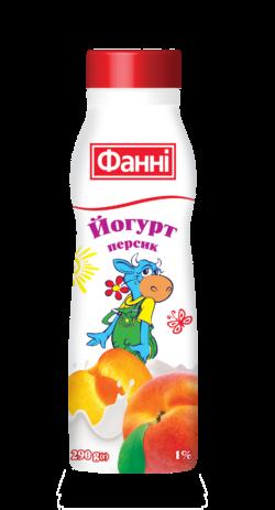 Йогурт питний 1% з персиком Фанні