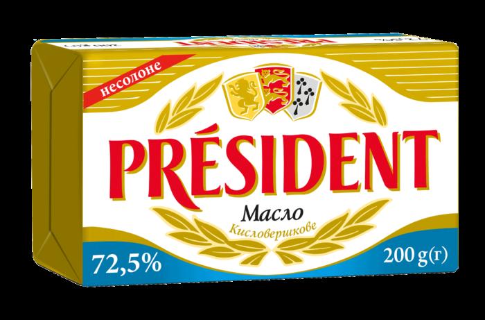 Unsalted butter 72,5% Président