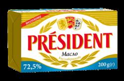 Масло кисловершкове 72,5% Президент