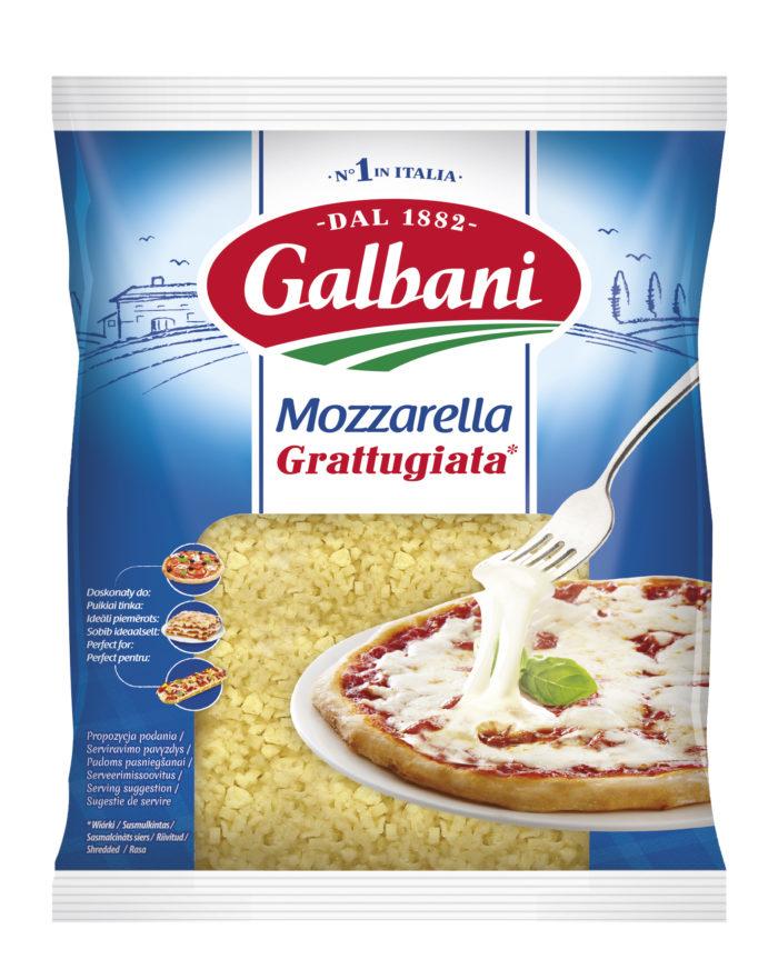 Fresh grated cheese Mozzarella 45% Galbani