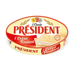 Сир м'який Овал Екстра Фондан 60% Президент (Коробка сиру 0,200)