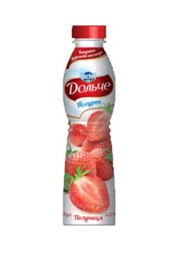 Йогурт питний 2,5% з Полуниця