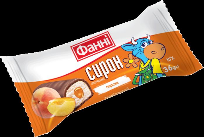 Glazed curd 15% Fanni with peach