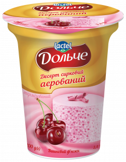 Десерт сирковий аерований Вишневий ф'южн 3,4% Дольче