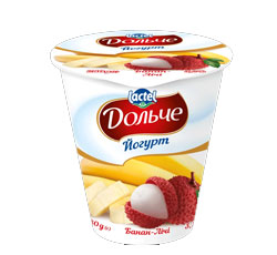 Yoghurt 3,2% Banana-Litchi Dolce (cup 0,280 kg)