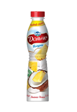 Drinkable yogurt 2,5% Pineapple-coconut Dolce