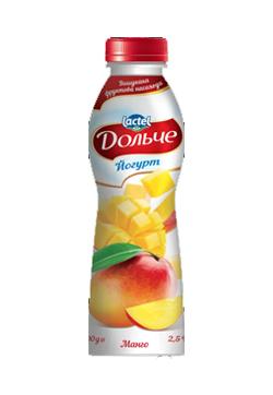 Drinkable yoghurt 2,5% Mango Dolce (bottle 0,500 kg)