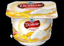 Йогурт 3,2% двошаровий манго Дольче