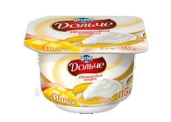 Yoghurt 3,2% double-layer Mango Dolce (cup 0,115 kg)