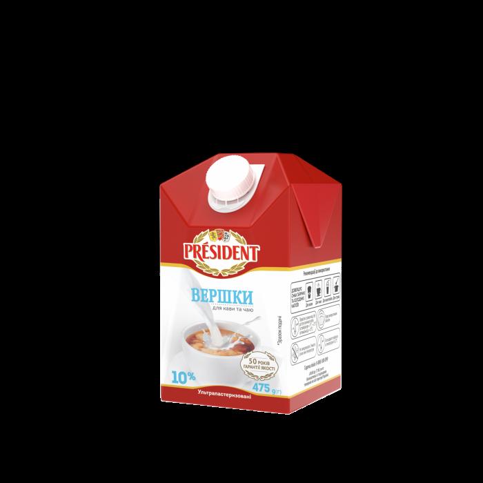 UHT cream 10% President