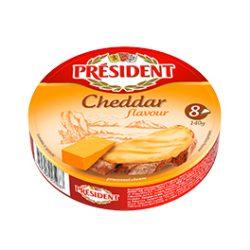Плавлений порційний з ароматом Чеддеру Президент 35%