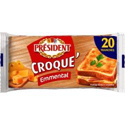 Сир плавлений у скибках з Ементалем Крок-Ементаль Президент 40%